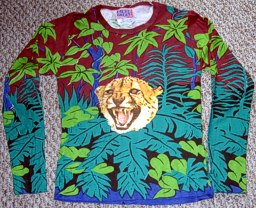 Faded Glory Jungle Print with Cheetah: garment designed by Michael Elkan