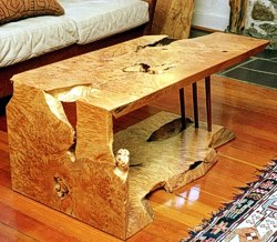 Folded Board Coffee Table by Michael Elkan