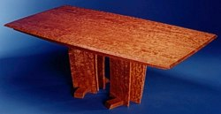 Leaves of a Tree Table in Bubinga by Michael Elkan