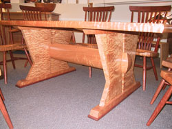 Table leg view of Natural Caverns Table by Michael Elkan