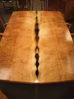 Tabletop view of Natural Caverns Table by Michael Elkan
